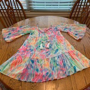 Lilly Pulitzer Alanna Dress Sparkling Sands S EUC